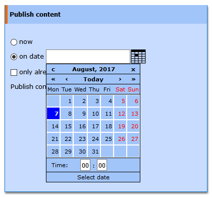 Multichannel and scheduled Publishing
